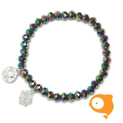 Proud Mama - Armband charm lotus oil