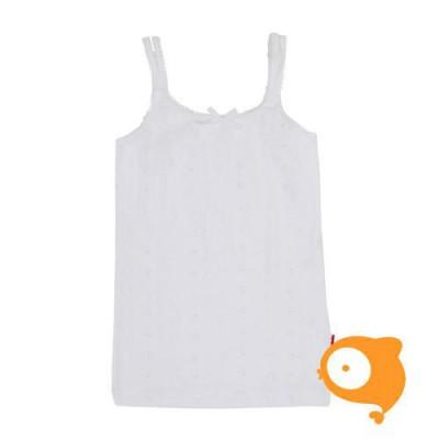 Claesen's - Onderhemd voor meisjes in wit borduurwerk