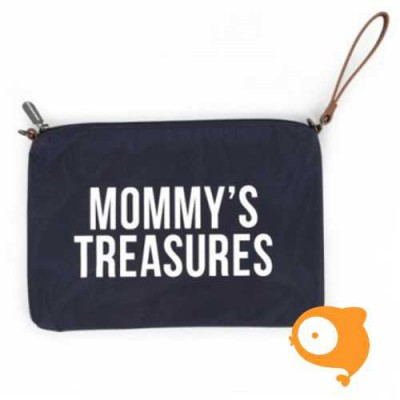 Childhome - Clutch 'mommy's treasures' marine blauw