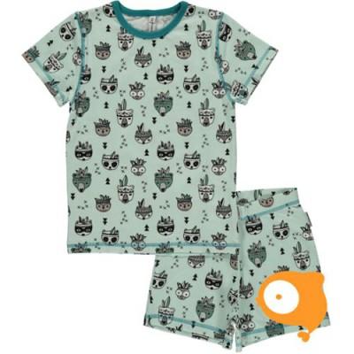 Maxomorra - Pyjama set SS Animal Mix