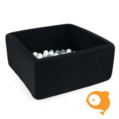 Misioo - Ballenbad vierkant groen incl 300 ballen (roos,pearl,zilver en clear)