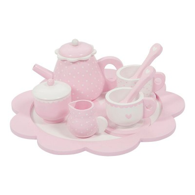 Little Dutch - Theeservies hout - pink