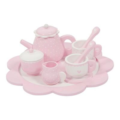 Little Dutch - Theeservies hout - pink