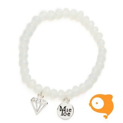 Mie Toe - Dochter armbandje diamond white/ice
