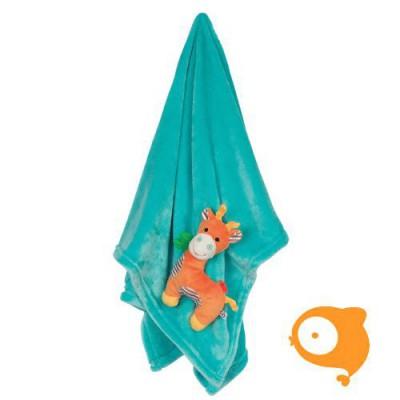 Zoocchini - Dekentje giraf aqua