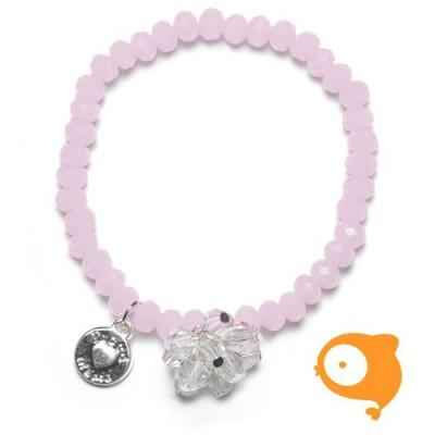 Proud Mama - Armband charm roze beads