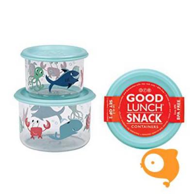 Sugarbooger - Good lunch snack containers (set van 2) - Ocean