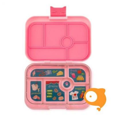 Yumbox - Original Gramercy Pink met  6 compartimenten NYC tray