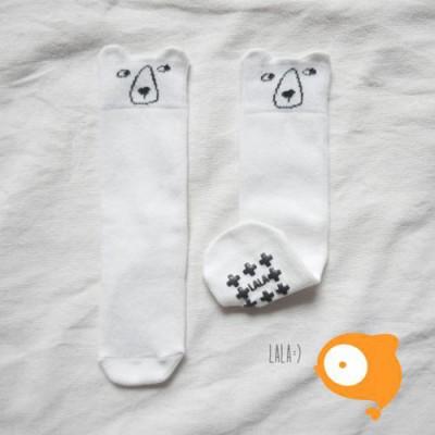 Lala - Kuma Knee Socks Ivory