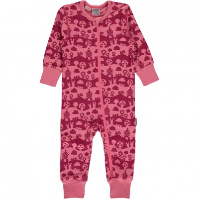 Maxomorra - Rompersuit Zip LS pink landscape