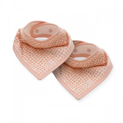 Jollein - slab bandana snake pale pink (2 pack )