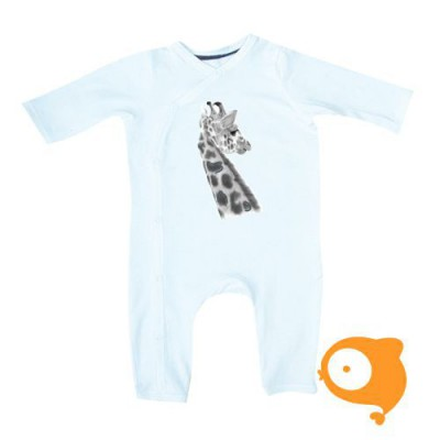 Miss princess and little frog - Bodysuit/pyjama longsleeve tencel giraffe