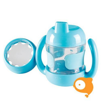 OXO tot - Sippy cup set with training lid (200 ml) - aqua