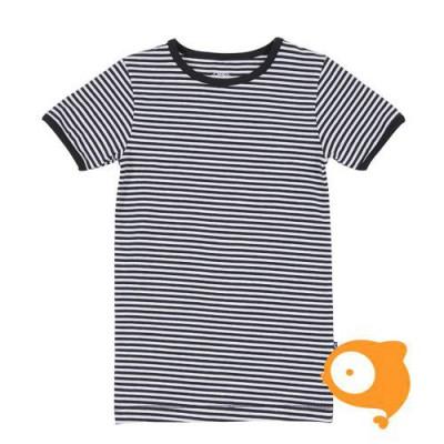 Claesen's - T-shirt jongens zwart/wit gestreept