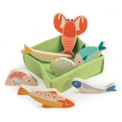 Tender leaf toys - mandje met vis