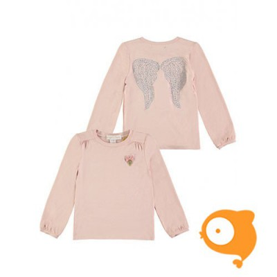 Angels Face - Crystal wings top blush pink