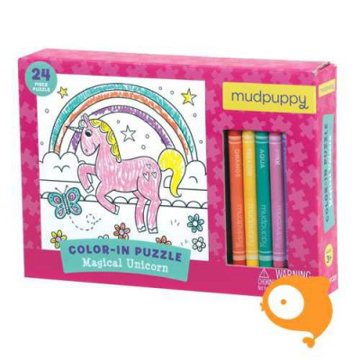 Crocodile Creek - Puzzel om in te kleuren magical unicorn