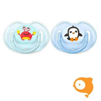 Avent - Fopspeen +0m Classic pinguïn-krab
