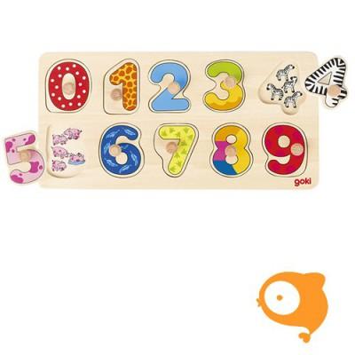 Goki - Steekpuzzel leren tellen