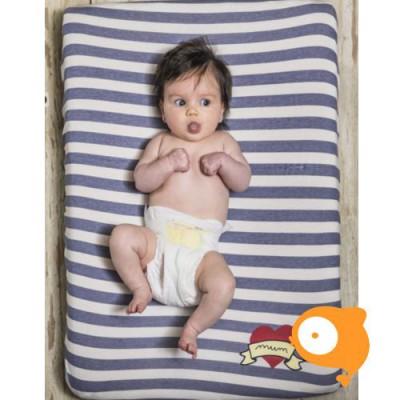 Baby Bites - Aankleedkussenhoes sailor blue stripes