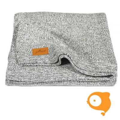 Jollein - Deken 75 x 100 stonewashed knit grey/teddy