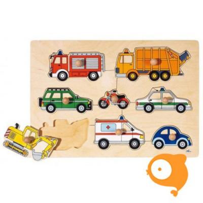 Goki - Steekpuzzel voertuigen