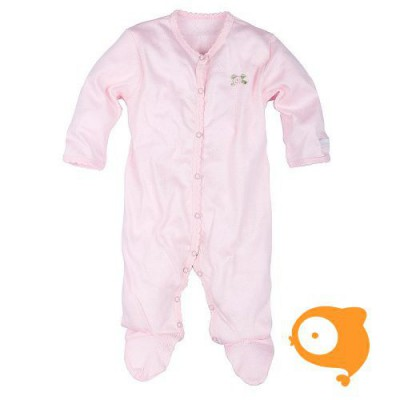 Claesen's - Newborn kruippakje met voeten en lange mouwen baby roze
