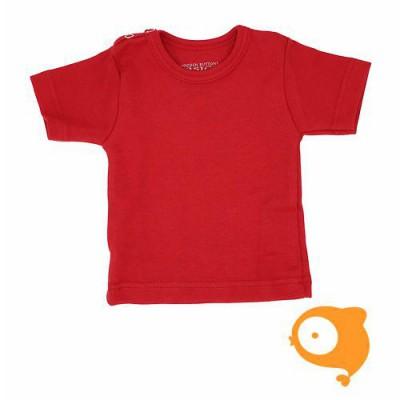 Wooden Buttons - T-shirt rood