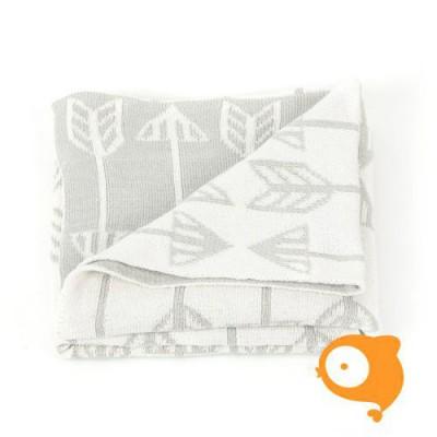 Roomblush - Dekentje 80x100cm arrows grey