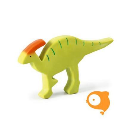 Tikiri - Bad- en bijtspeeltje - Dino groen met oranje