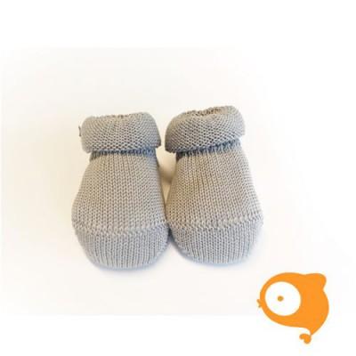 Fior di Coccole - Gebreide sokjes grijs Newborn (wol)
