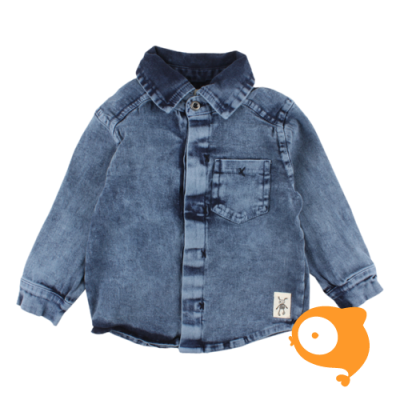 Small Rags - Eddy LS shirt navy iris jeans