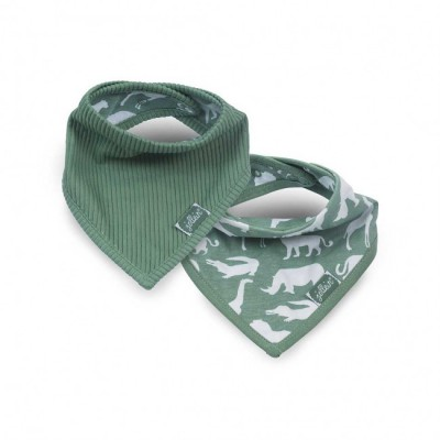 Jollein - slab bandana Safari forest green ( 2 pack )
