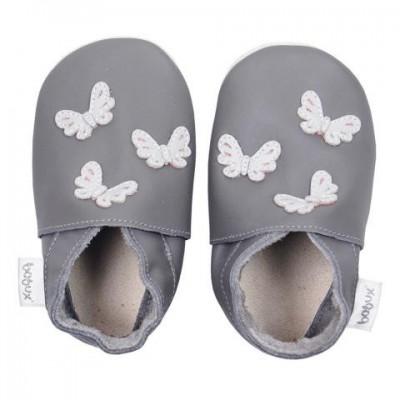 Bobux - Soft sole GIANTS grey butterflies