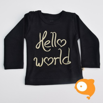Wooden Buttons - Longsleeve hello world