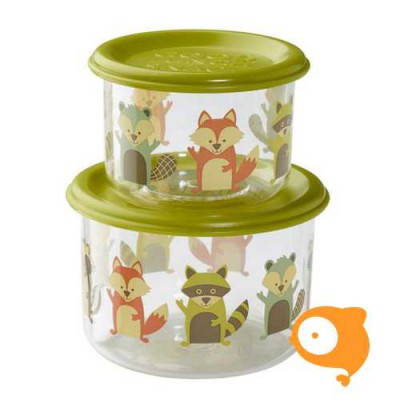 Sugarbooger - Good lunch snack containers (set van 2) - What did the fox eat