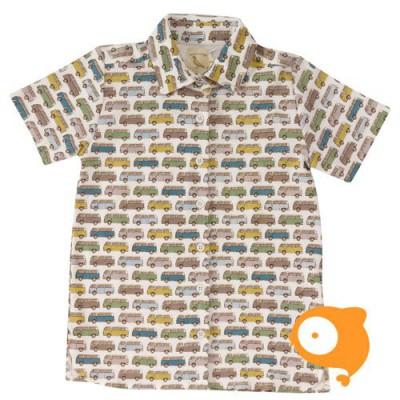 Pigeon - Printed shirt campervans