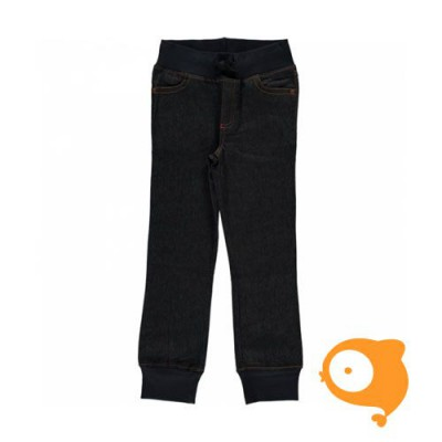 Maxomorra - Pants rib dark denim blue