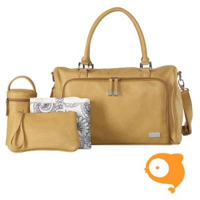 Isoki - Verzorgingstas double zip satchel sorento camel