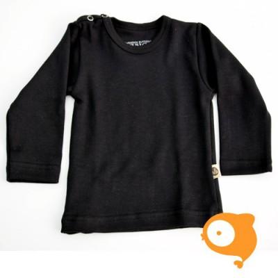 Wooden Buttons - Longsleeve zwart