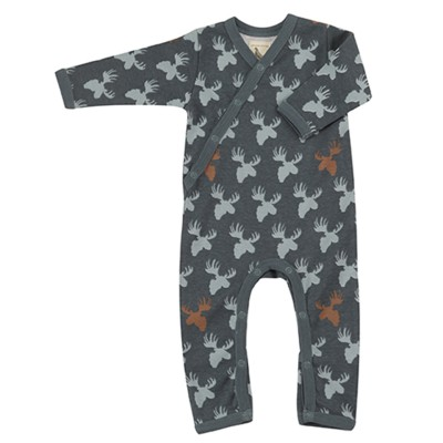 Pigeon - pyjama romper moose head - blue surf/teal