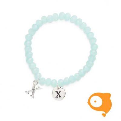 Mie Toe - Dochter armbandje met initiaal X
