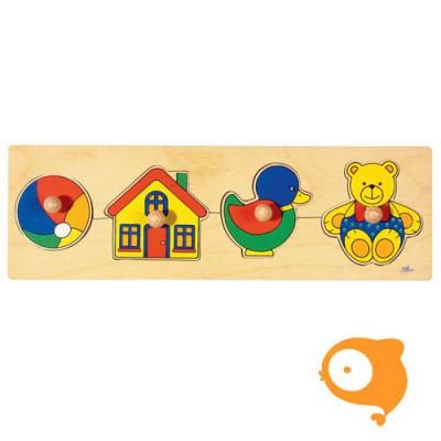 Goki - Puzzel bal-huis-eend-beer
