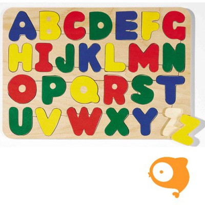 Goki - Inlegpuzzel ABC hoofdletters