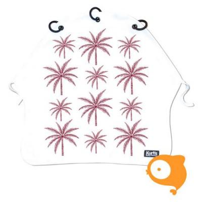 Kurtis - Kinderwagengordijn palmtrees purple
