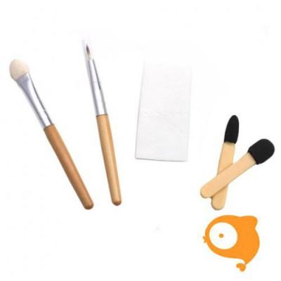 Natural Earth Paint - Bamboe make-up kwastjes