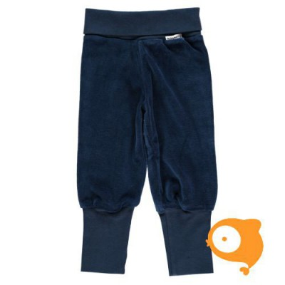 Maxomorra - Pants rib velour dark blue