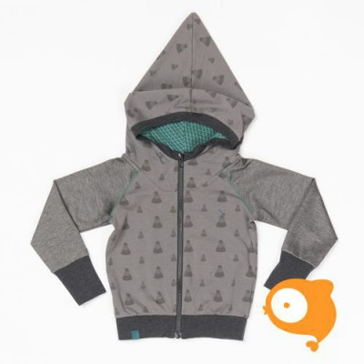 Albababy - Habian zipper hood casterlock melange