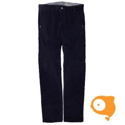 Boboli - Broek velours donker blauw