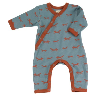 Pigeon - pyjama romper foxes on blue
